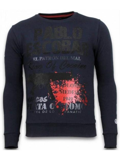 Local Fanatic Pablo escobar rhinestone sweater 5917B large
