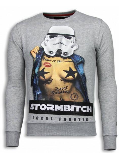 Local Fanatic Stormbitch rhinestone sweater 5911LG large