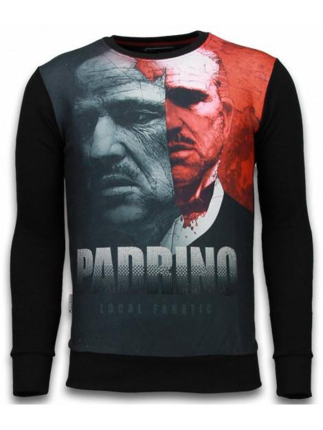 Local Fanatic El padrino two faced digital rhinestone sweater 6039Z large