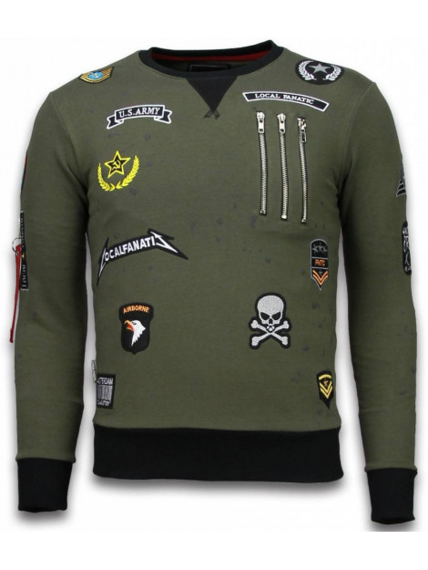 Local Fanatic Basic embroidery sweater patches LF-100G large