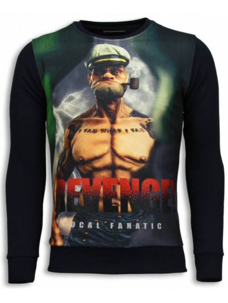 Local Fanatic Popeye revenge sweater 5790Z large
