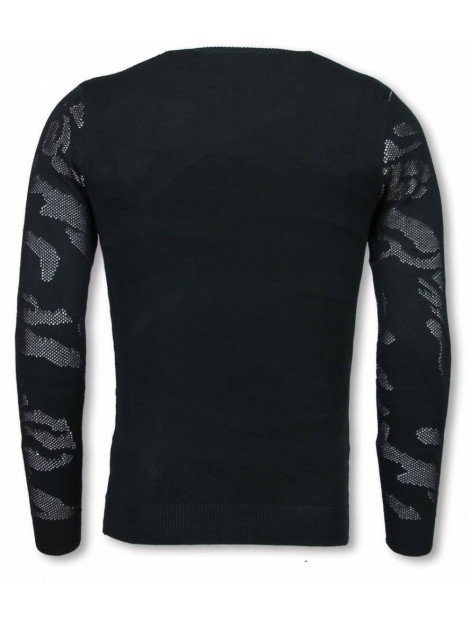 Justing 3d camouflage patroon trui neon pullover P-733W large