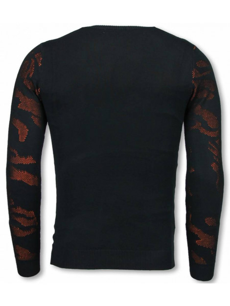 Justing 3d camouflage patroon trui neon pullover P-733O large