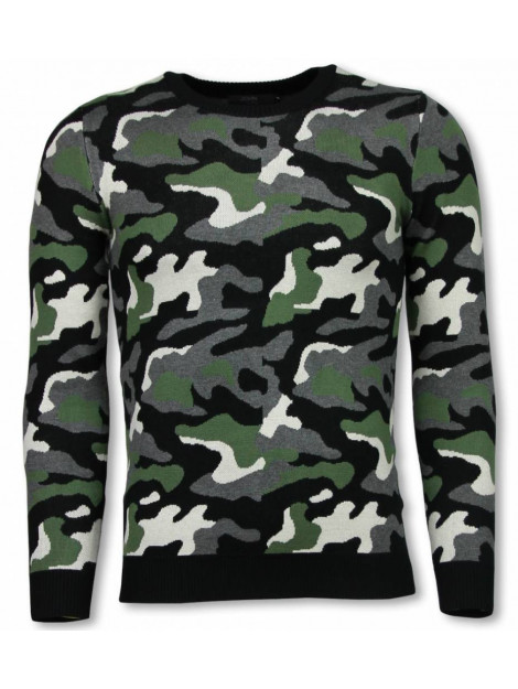Justing Military trui camouflage pullover P-707G large