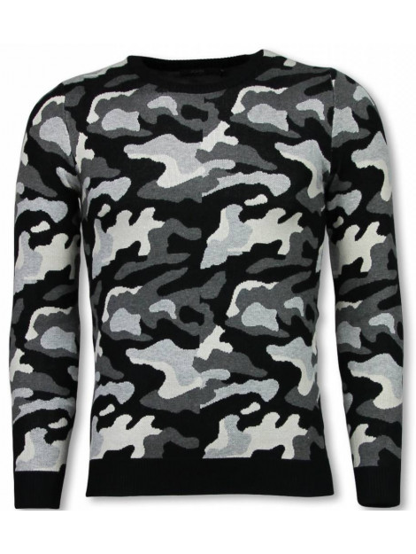 Justing Military trui camouflage pullover P-707GR large