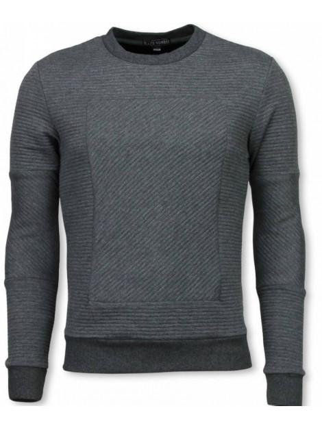 BN8 BLACK NUMBER 3d ribbel square crewneck sweater BX5229G large