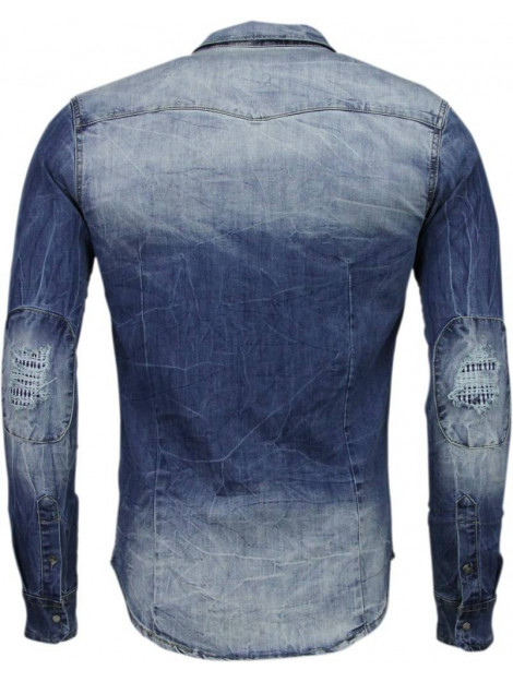 Enos Denim slim fit lange mouwen DC-2078B large