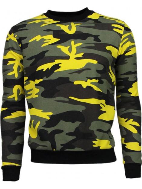 Kariqu Kleur leger print sweater 8D-116G large