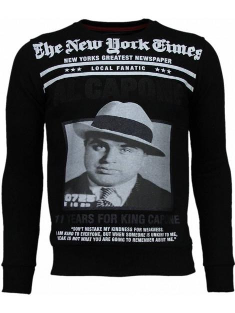 Local Fanatic Al capone rhinestone sweater 4875Z large
