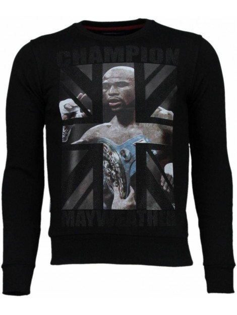 Local Fanatic Mayweather rhinestone sweater 4904Z large