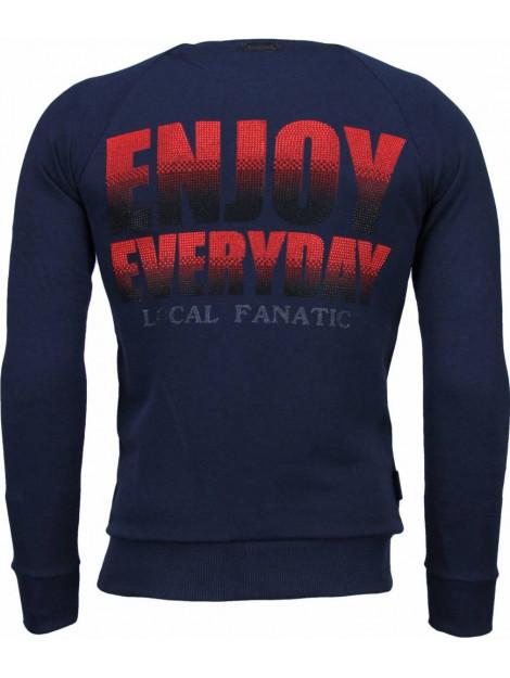 Local Fanatic Bilzarian rhinestone sweater 4788N large
