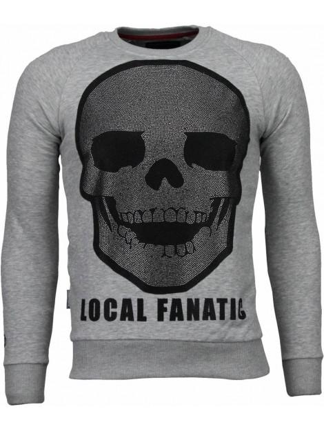 Local Fanatic Skull legend rhinestone sweater 4787G large