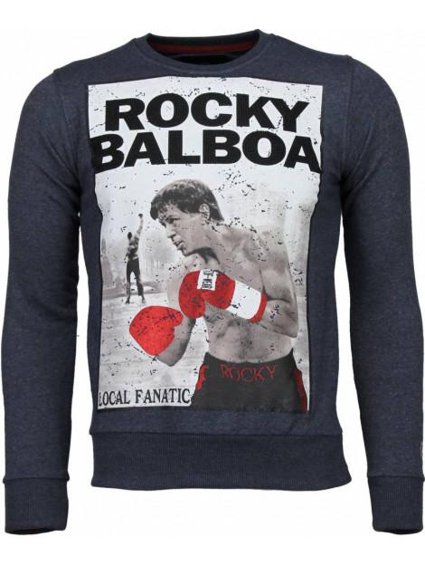 Local Fanatic Rocky balboa rhinestone sweater 4785B large