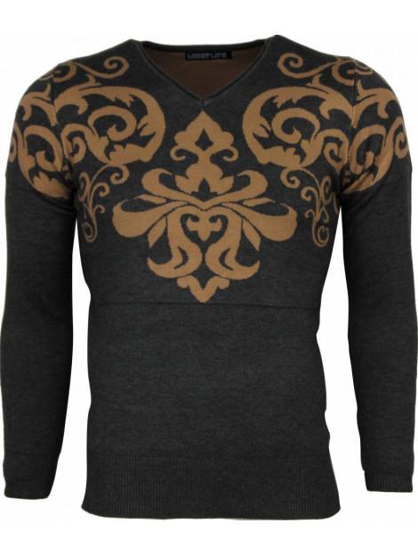 Lucky Life Casual trui tattoo motief borduur LF/CT-TMBH-G large