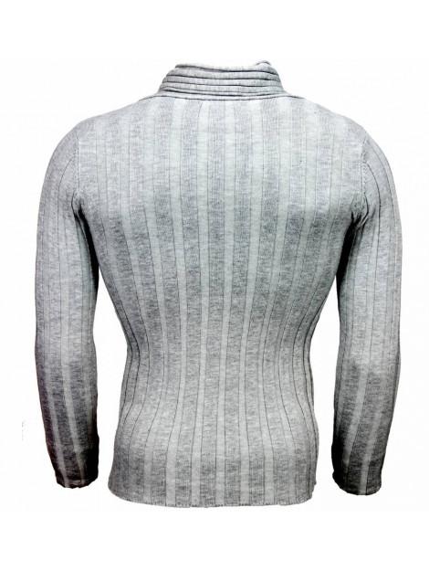 Justing Casual trui sjaalkraag design strepen motief K2158G large