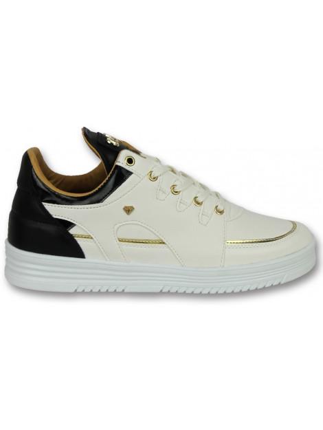 Cash Money Sneakers hoog schoenen luxury white black CMS71 large