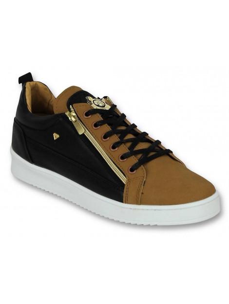 Cash Money Schoenen sneaker bee camel black gold CMS97 large