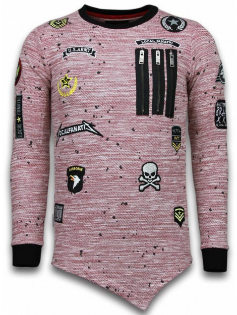 Local Fanatic Longfit asymmetric embroidery sweater patches LF-101/2R large
