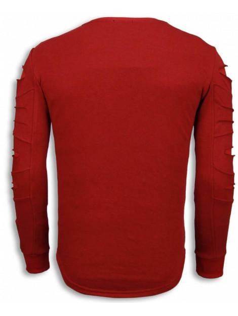 Justing 3d stamp paris trui damaged sweater JHSW323R large