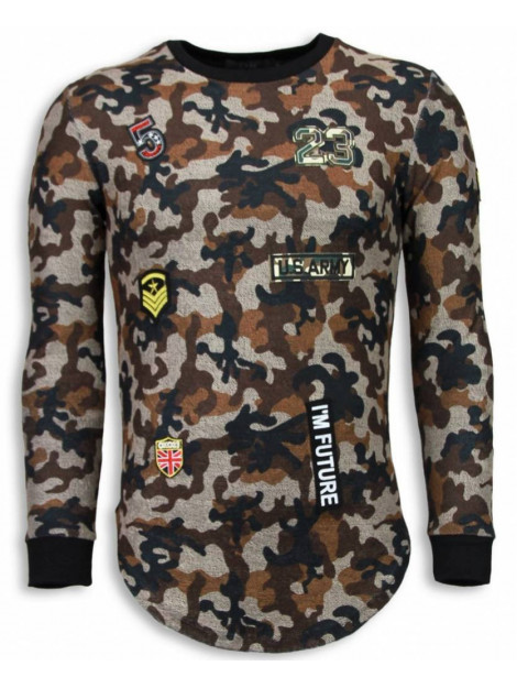 Justing 23th us army camouflage shirt long fit sweater S2702BR large
