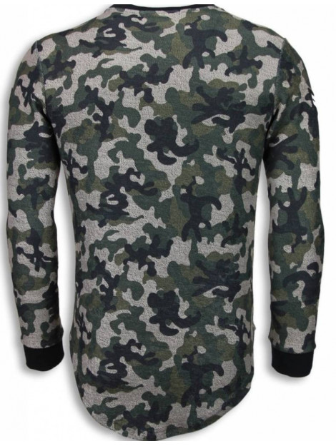 Justing 23th us army camouflage shirt long fit sweater S2702G large