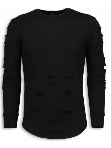Justing 3d stamp paris trui damaged sweater JHSW323Z large