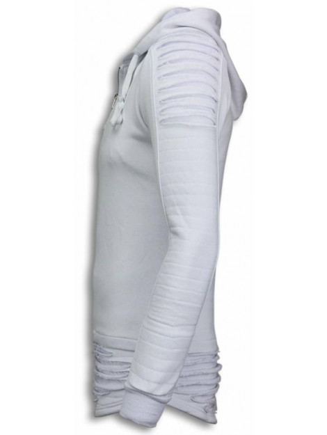 Justing Ripped shoulder long fit hoodie TY-0074W large