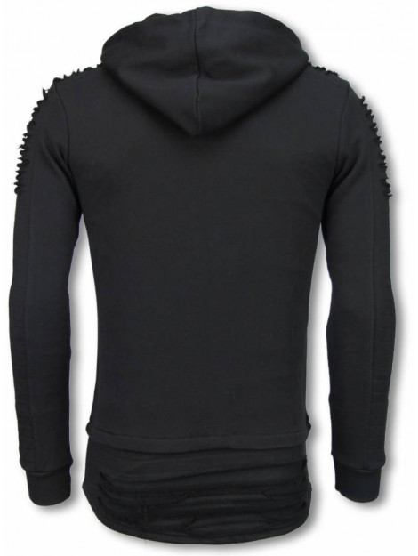 Justing Ripped shoulder long fit hoodie TY-0074Z large