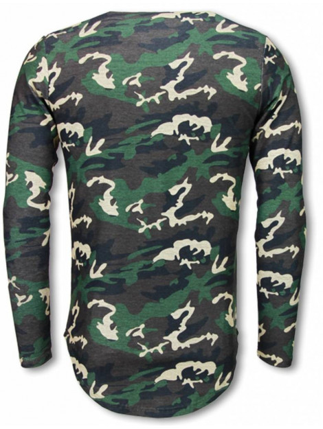 Justing King of army shirt long fit sweater BRD-017C large
