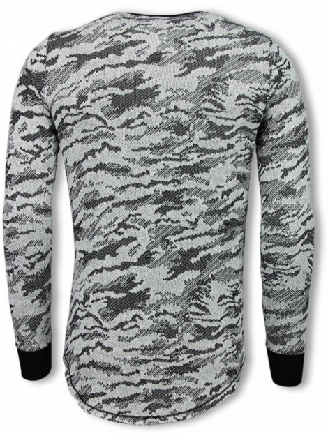 Tony Backer Army look shirt long fit sweater UP-48Z large