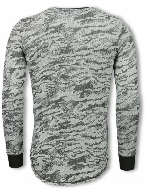 Tony Backer Army look shirt long fit sweater UP-48G large