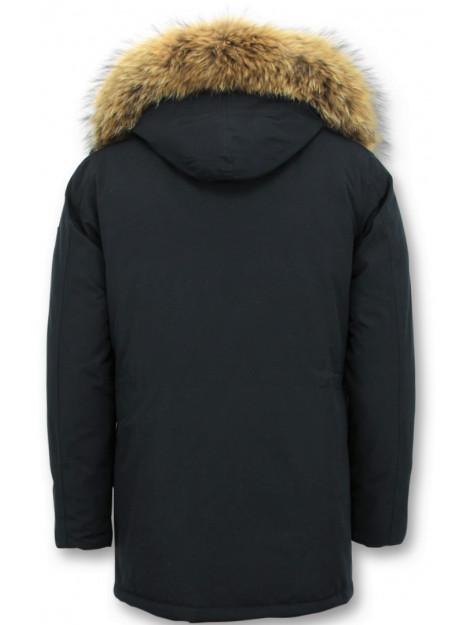 Enos Parka winterjas met grote echte bontkraag PI-7169-B large