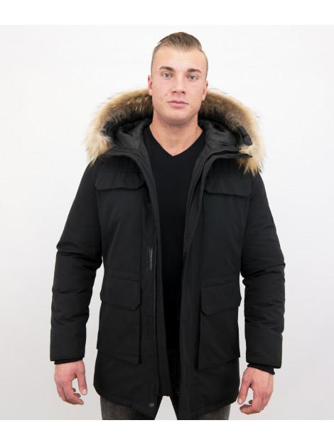 Enos Parka winterjas met grote echte bontkraag PI-7169-Z large