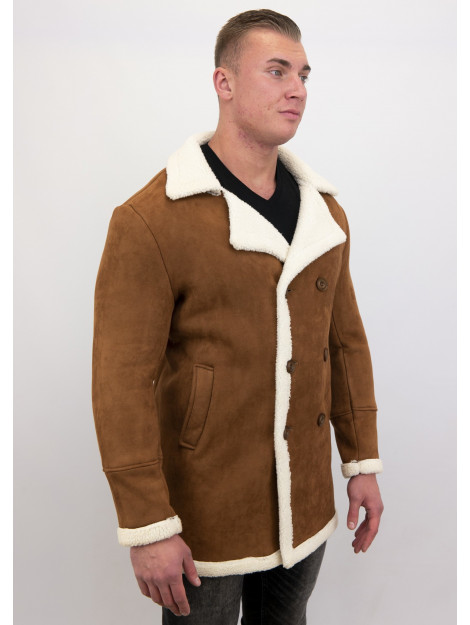 Tony Backer Imitatie bontjas lammy coat lang QQ538-10 large