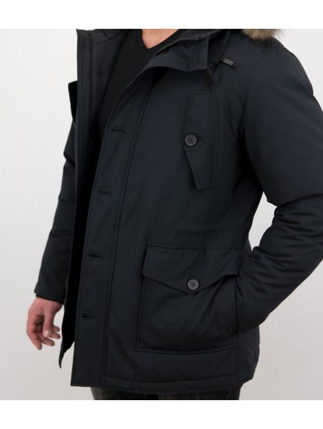 Tony Backer Lange winterjas met grote echte bontkraag P-202B I P8202B large