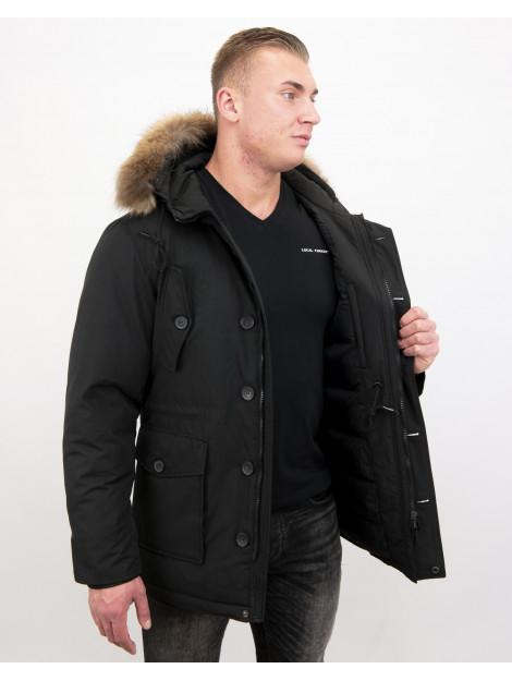 Tony Backer Lange winterjas met grote bontkraag P-202Z I P8202 large