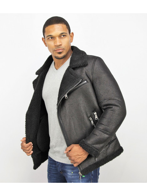 Tony Backer Imitatie bontjas lammy coat QQ510 large