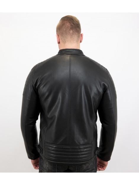 Enos Imitatie leren jas biker jack ZMG-8028-A large
