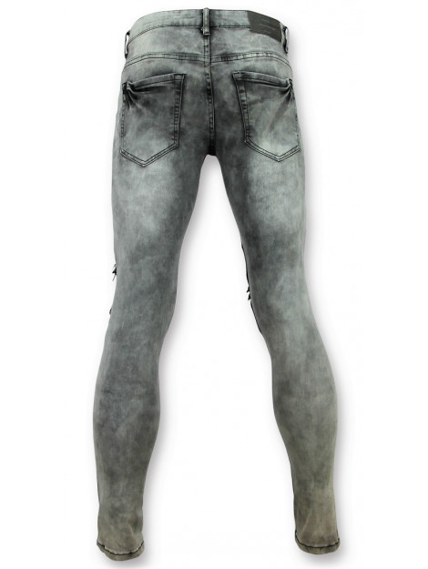 True Rise Grijze spijkerbroek biker jeans 3012 3012-2 large