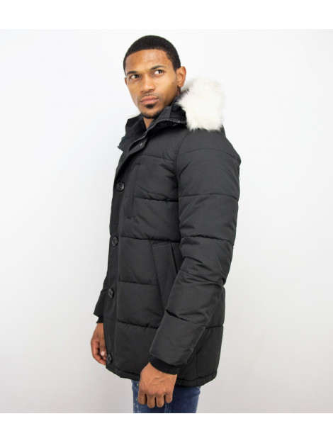 Just Key Winterjas parka met bontkraag 1801Z large