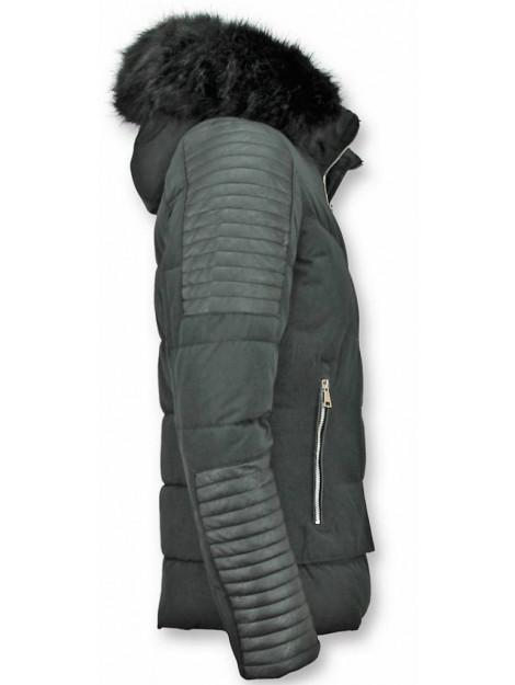 Enos Korte winterjas faux fur bontkraag PI-7166Z large