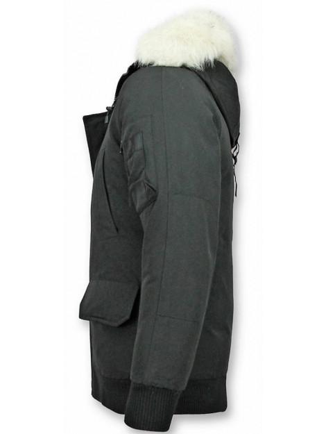 Just Key Korte winterjas met bontkraag 1803Z large