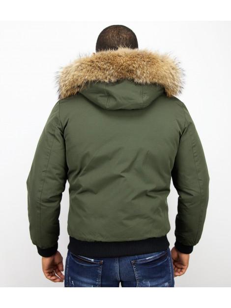 Enos Korte winterjas met bontkraag PI-7015R large