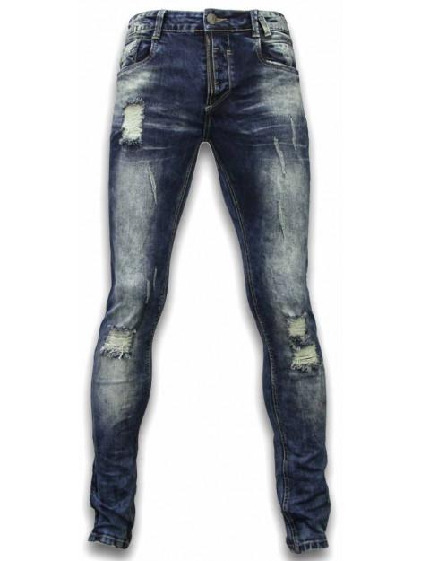 Justing Jeans slim fit damaged zipper design ST-2021#V large