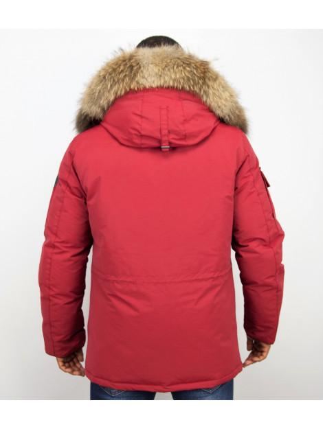 Beluomo Winterjas met bontkraag 7503R large