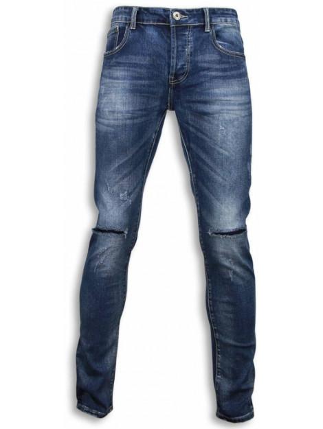 True Rise Basic jeans damaged knee regular fit XL009 large