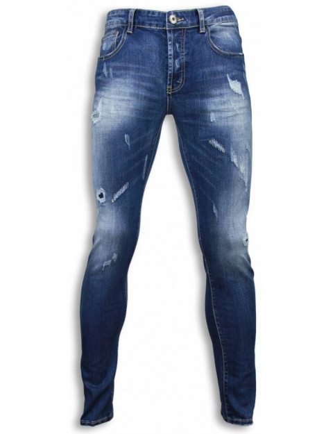 True Rise Basic jeans blue damaged regular fit XL008 large