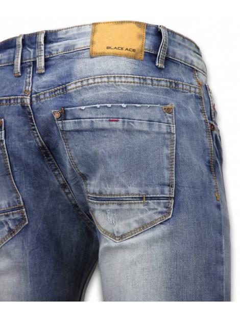 True Rise Basic jeans stone washed skinny fit B109B large
