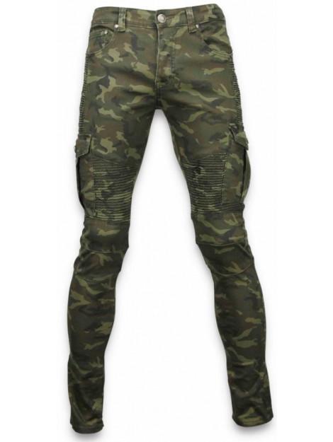 True Rise Side pocket jeans slim fit biker jeans camouflage ZS731-18G large