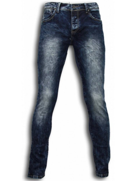 True Rise Jeans slim fit washed look jeans B060B large